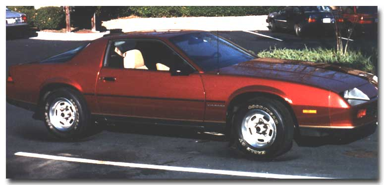Rich McCoy's 1987 Chevrolet Camaro Sport Coupe - Stock - Feb, 1989