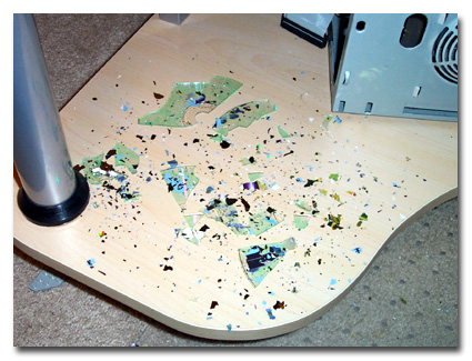 CD Blows Apart, Explodes, Shatters