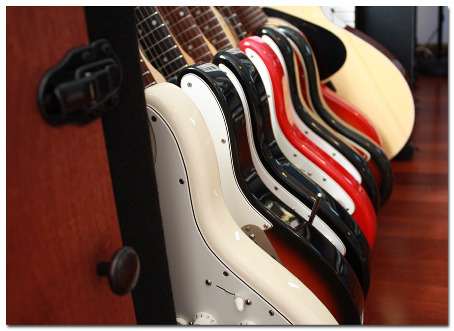Guitar Area #1 - Closeup... with new American Standard Strat